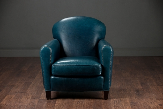 Leather Gentlemans Navy Club Chair Pictures 51
