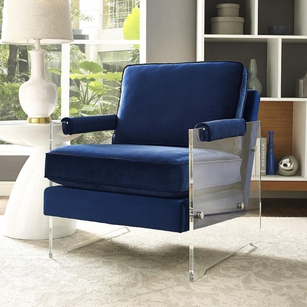Navy Club Chair Serena Navy Velvetlucite Chair Luxurious Velvet Furniture Images 33