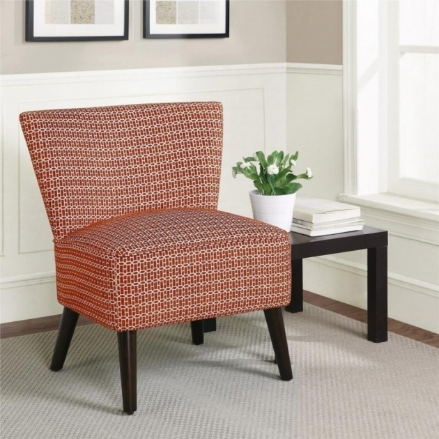 Pink Narrow Accent Chair Without Arms Image sho68