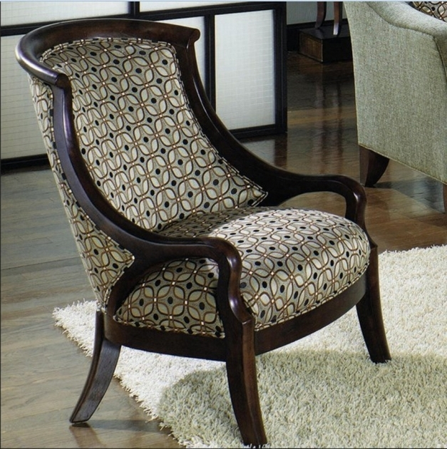 Small Accent Chairs With Arms Striped Pattern Gray Fabric Leather Accent Chair Photo 78