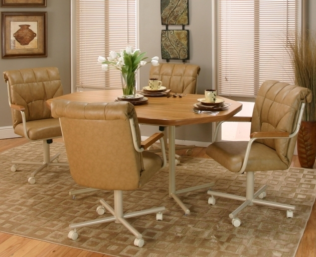 Swivel Dining Chair With Casters Cramco Kitchen Chairs With Rollers Pictures 10
