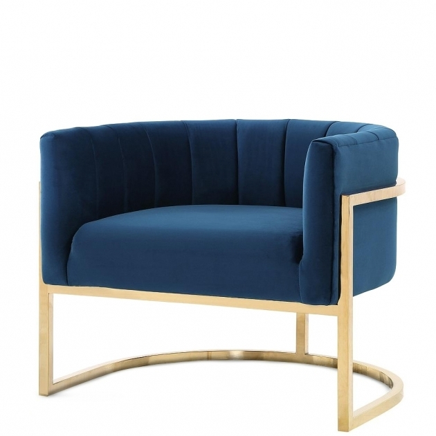 Sydney Petite Velvet Navy Club Chair Picture 61