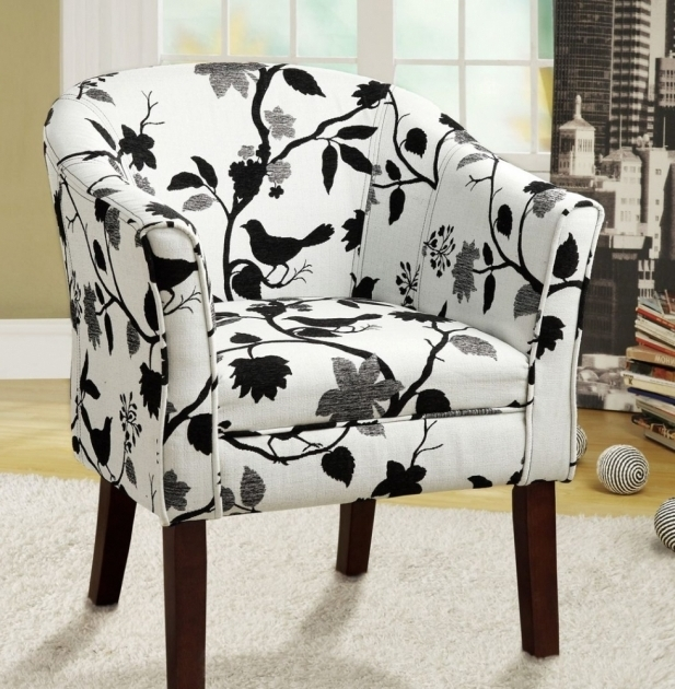 Black And White Patterned Club Chair Patio Chair Pads Photo 79