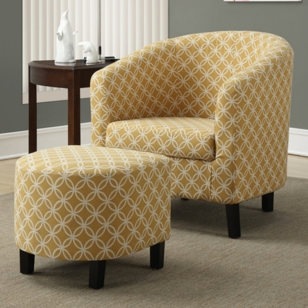 Elegant Grey And Yellow Accent Chair Images 07