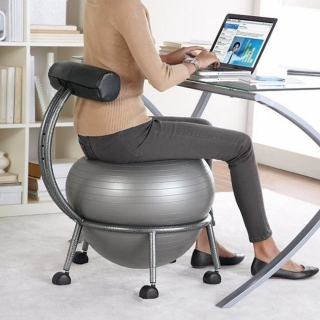 Elegant Stability Balance Ball Office Chair Photo 10