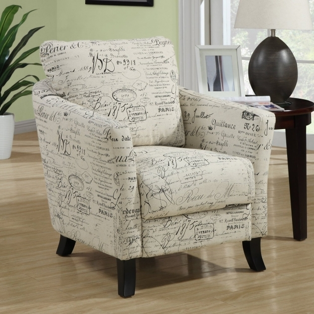 Fabric Accent Chair Patterned Club Chair Upholstery Ideas Solid Wood Flared Post Legs Picture 45