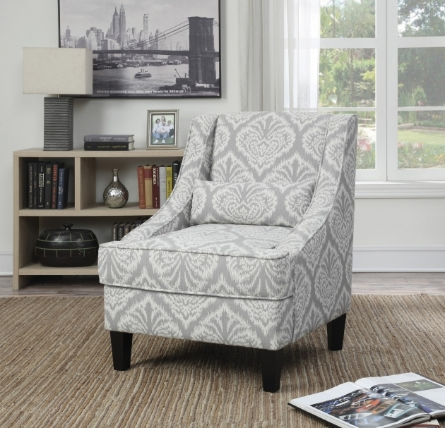 Grey Patterned Accent Yellow And Grey Accent Chair Image 53