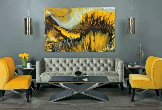 Home Design Yellow And Grey Accent Chair Photos 40
