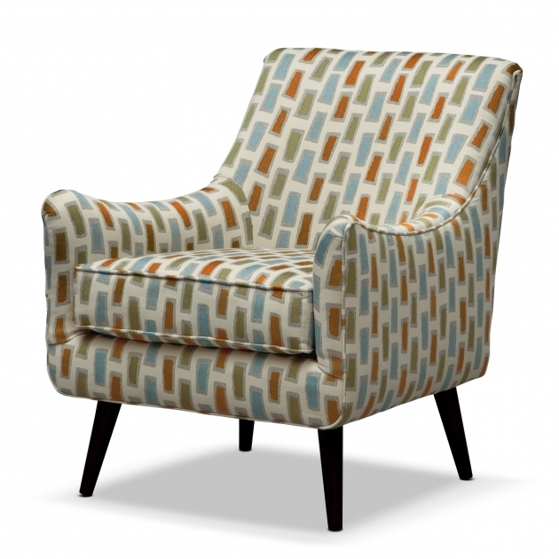 Patterned Club Chair Ideas With Brown Wooden Legs Picture 46