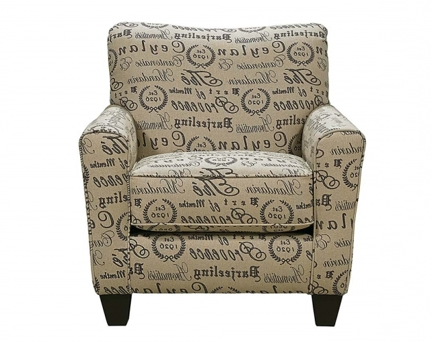 Patterned Club Chair Teahouse Chair Parchment Tan Text Script Armchair Image 46