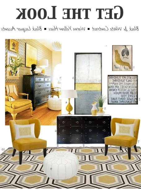 Upholstered Yellow And Grey Accent Chair Picture 21