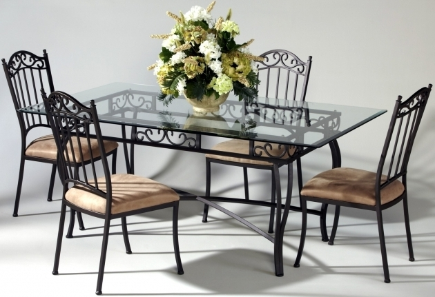 Wrought Iron Kitchen Chairs 5 Piece With Dining Table Set Photos 57
