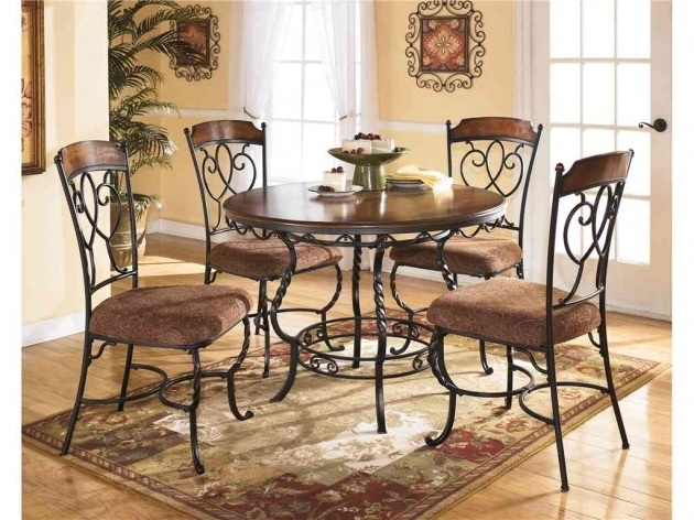Wrought Iron Kitchen Chairs And Table Sets Ashley Furniture Round Image 78
