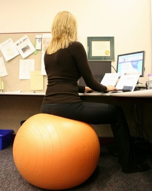 Yellow Exercise Balance Ball Office Chair Size  Images 26