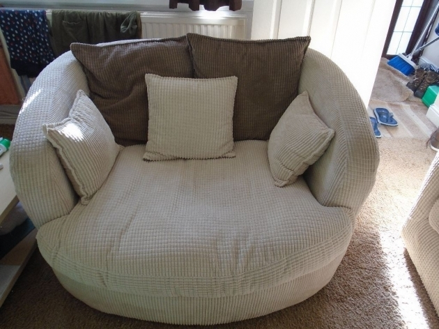 Leather Round Swivel Cuddle Chair Pics 83
