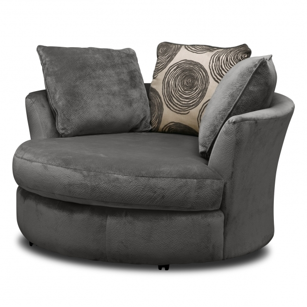 Round Swivel Sofa Cordoba Gray Swivel Chair Value City Furniture Round Swivel Cuddle Chair Image 31