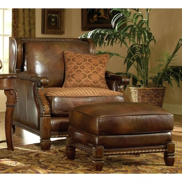 Large Leather Chairs Brown Ottomans For Vintage Living Room Decor Swivel Vintage Cuddle Chair Pics 26