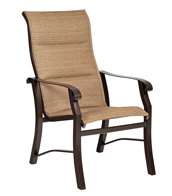 Amazing High Back Sling Patio Chairs Photo