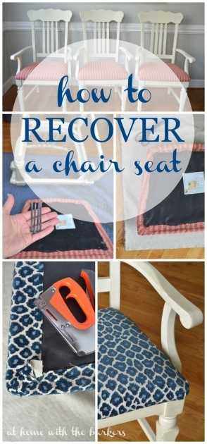 Astonishing How To Reupholster Kitchen Chairs Photos