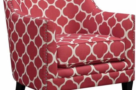 Red Accent Chair With Arms