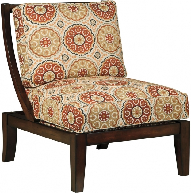 Astonishing Red Pattern Accent Chair Photo