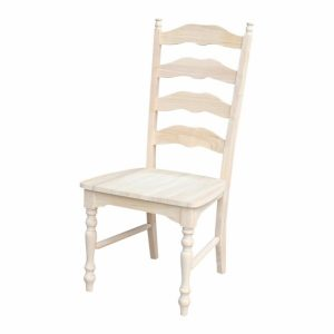 Wooden Ladder Back Kitchen Chairs