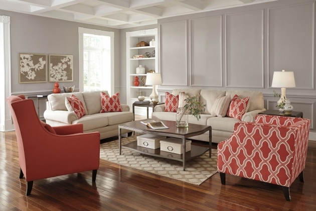 Attractive Coral Accent Chair Picture