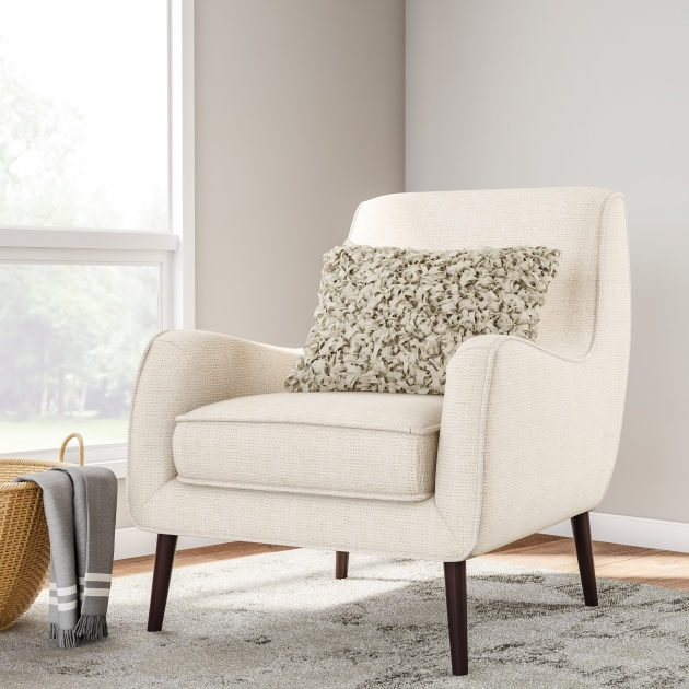 Attractive Cream Colored Accent Chairs Photo