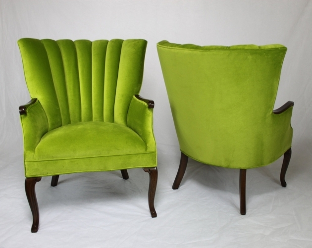 Attractive Green Accent Chair With Arms Image
