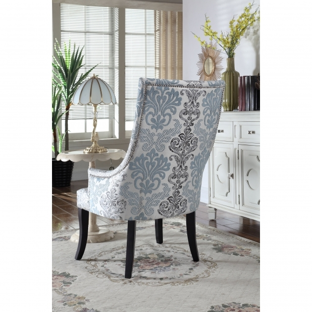 Attractive Grey Patterned Accent Chair Photo