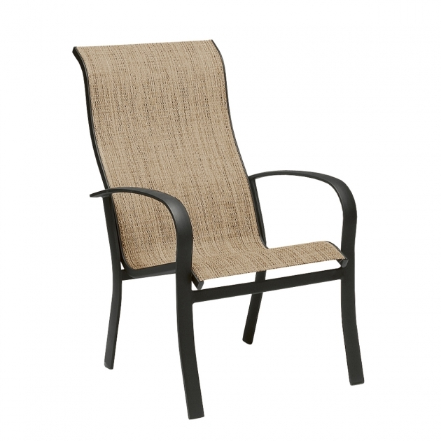 Attractive High Back Sling Patio Chairs Images