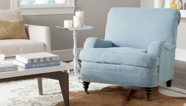 Attractive Light Blue Accent Chairs Pic