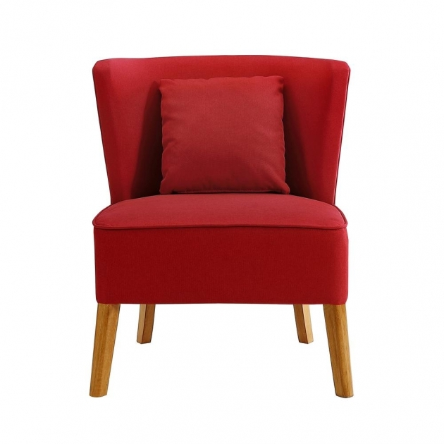 Attractive Red Accent Chair With Arms Pics