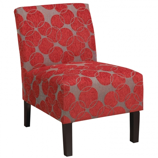 Attractive Red Pattern Accent Chair Picture