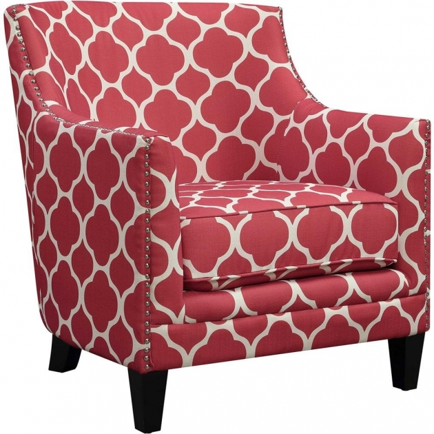 Attractive Red Pattern Accent Chair Pictures