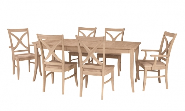 Attractive Unfinished Kitchen Table And Chairs Picture