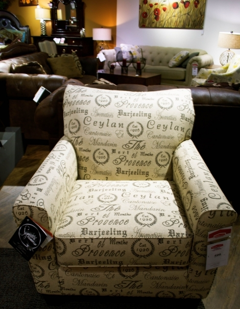 Awesome Accent Chair With Writing On It Image