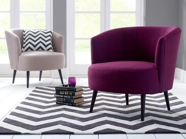 Awesome Purple Accent Chairs Living Room Image