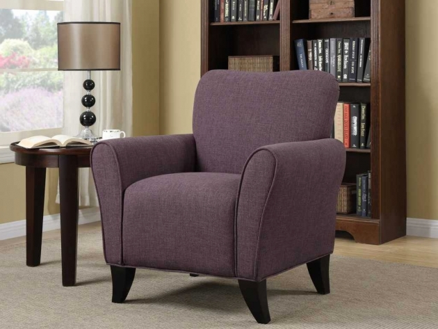 Awesome Purple Accent Chairs Living Room Pic