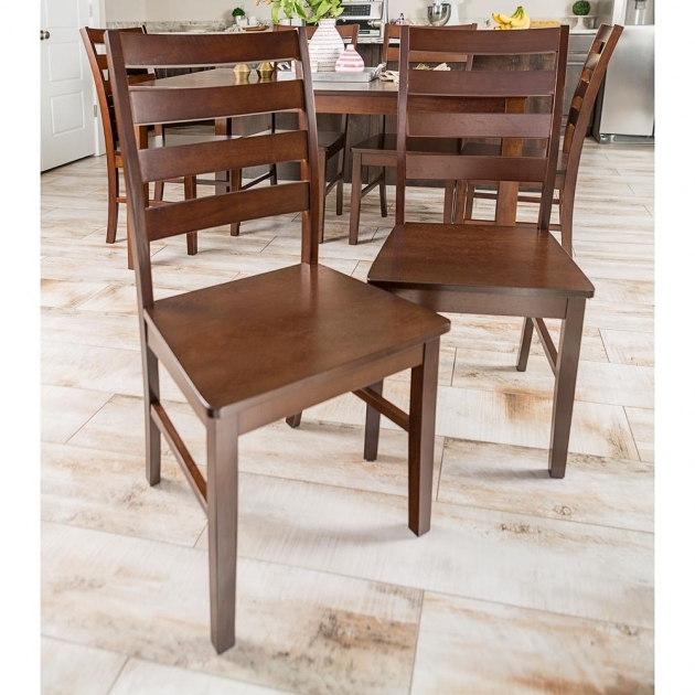 Best Wooden Ladder Back Kitchen Chairs Photo