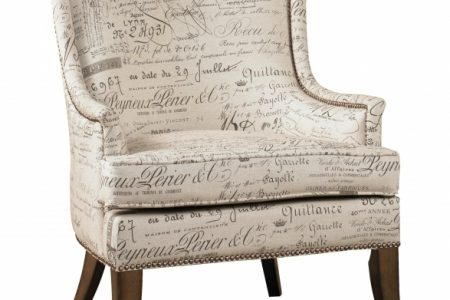 Accent Chair With Writing On It