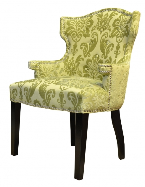 Contemporary Damask Accent Chair Photos