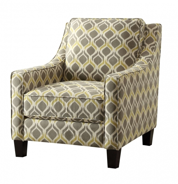 Contemporary Gray And Yellow Accent Chair Photo
