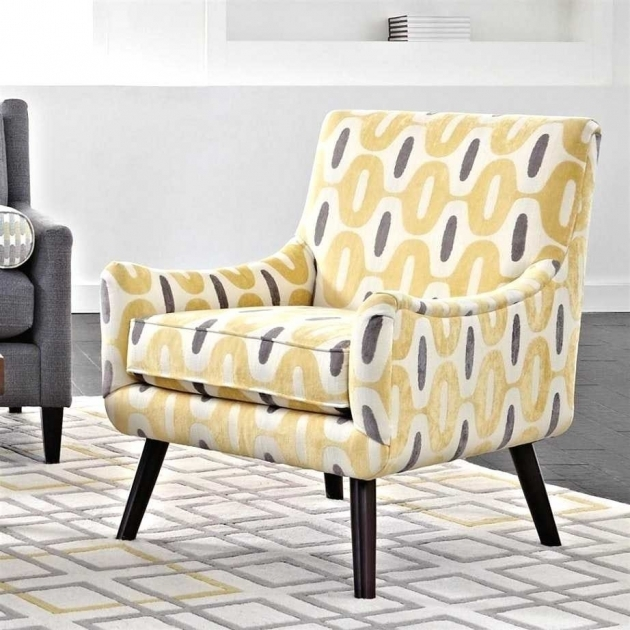 Contemporary Gray And Yellow Accent Chair Pics