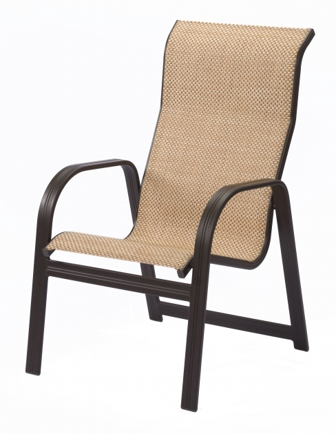 Contemporary High Back Sling Patio Chairs Photos