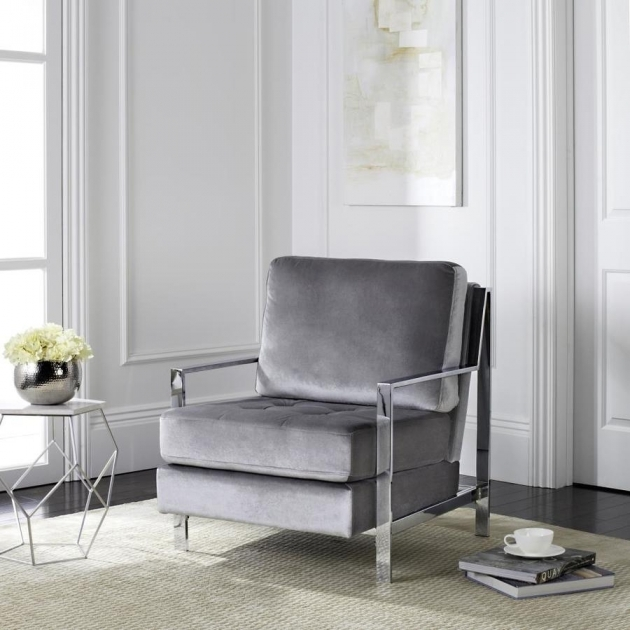 Contemporary Light Gray Accent Chairs Picture