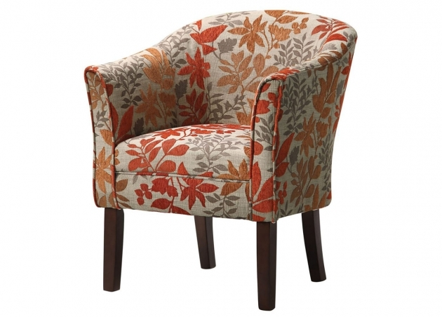 Contemporary Red Pattern Accent Chair Pic