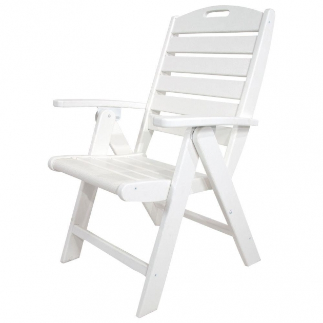 Elegant High Back Plastic Patio Chairs Image