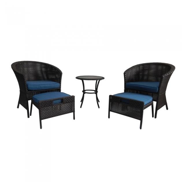 Elegant Patio Chair With Hidden Ottoman Image