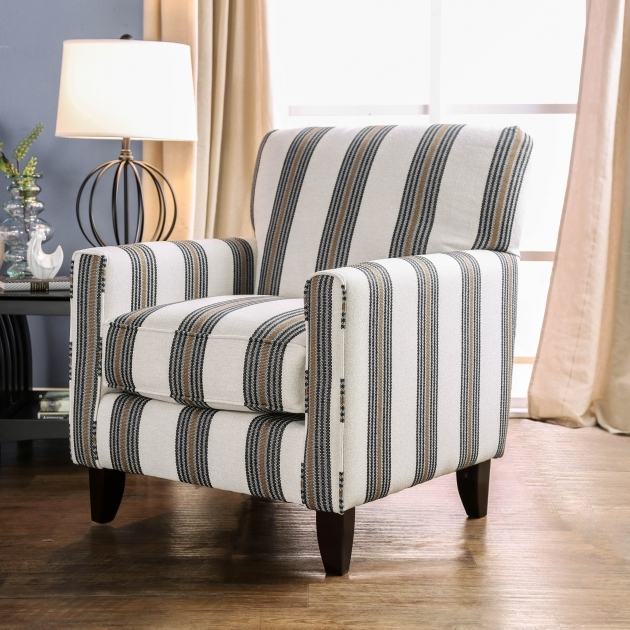 Elegant Striped Accent Chairs Photo
